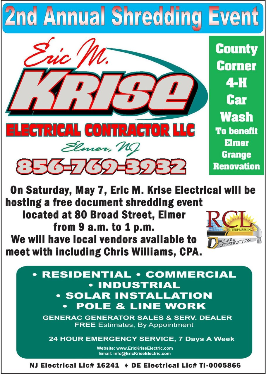 2nd Annual Shredding Event Eric M Krise Electrical