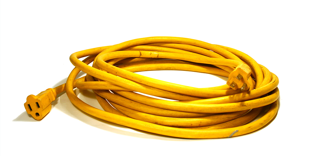How can you tell the difference between indoor and outdoor extension cords?