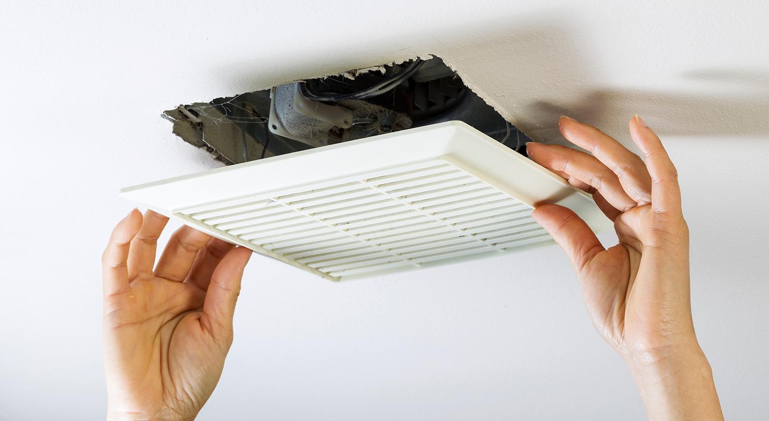 How to troubleshoot a noisy bathroom fan.
